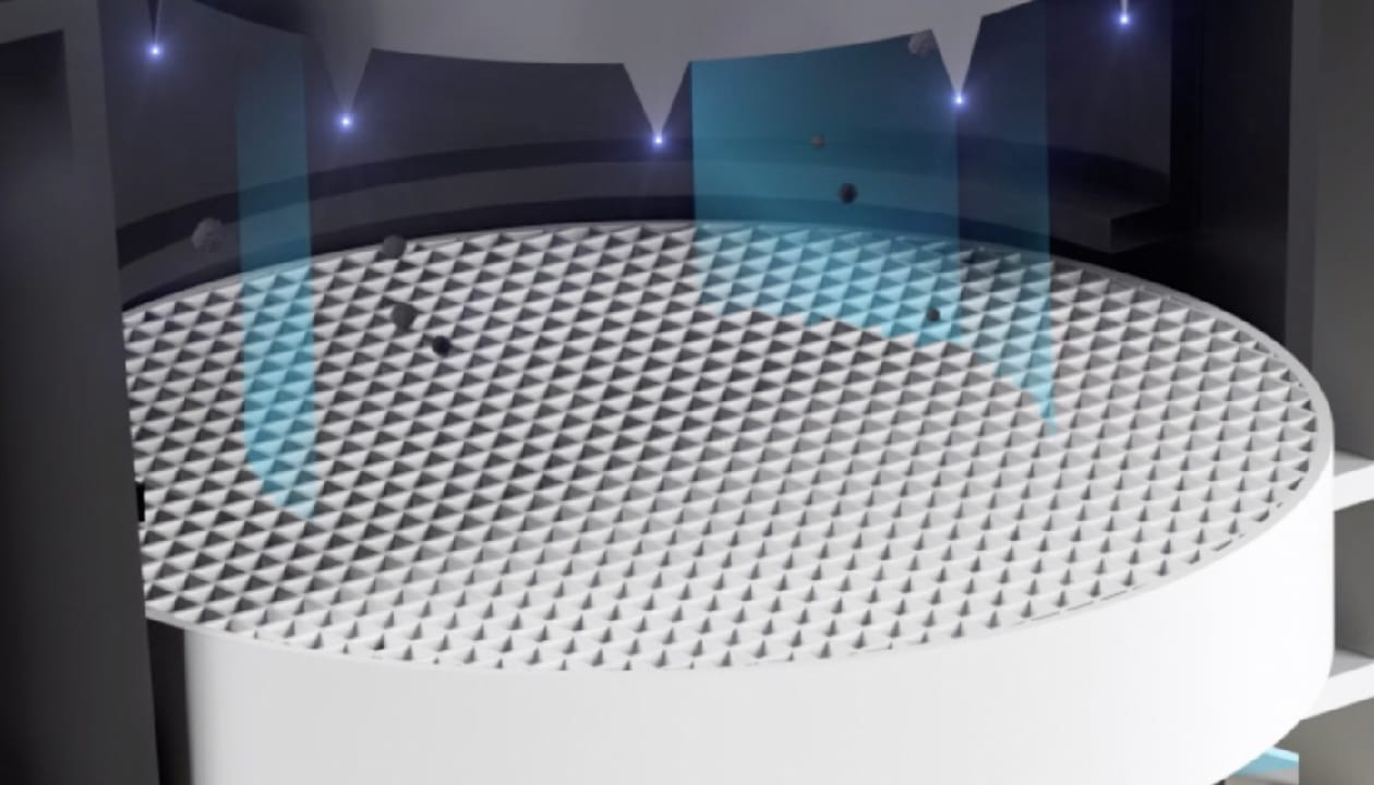 光触媒反応を起こすハニカムフィルターで殺菌・消臭